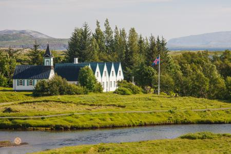 Kirche, Þingvellir, Thingvellir, Nationalpark, Island