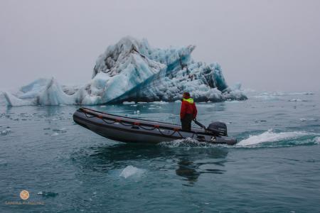 Gletscherfluss, Eisberg, Jökulsárlón, Island